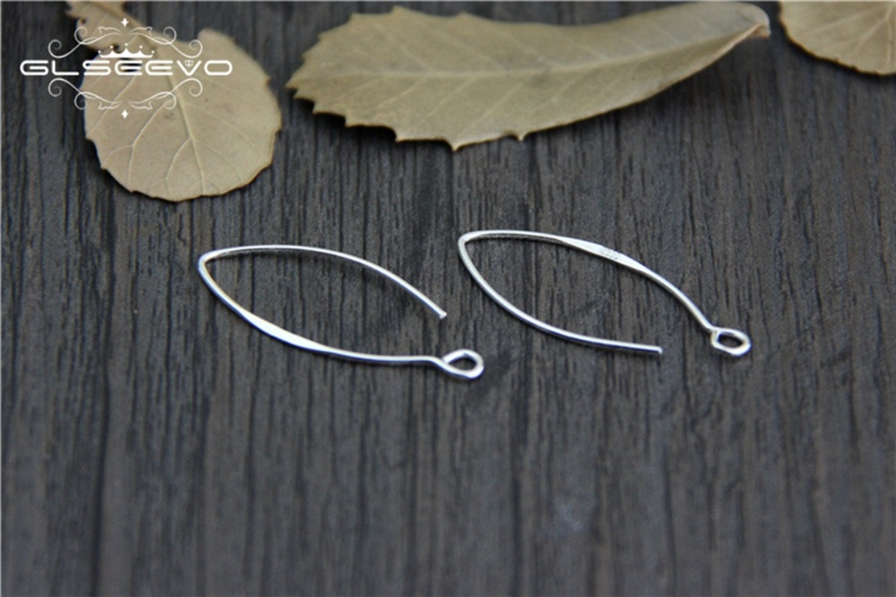 5pair 925 sterling silver Earring Hook Clip Earrings accessories DIY earring hook pure silver earrings findings XA0434 in Jewelry Findings Components from Jewelry Accessories