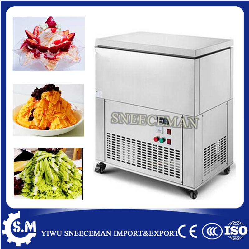 6 Blocks Electric Snowflake  Ice Shaving Maker High Efficiency And Energy-saving Snowflake Ice Machine