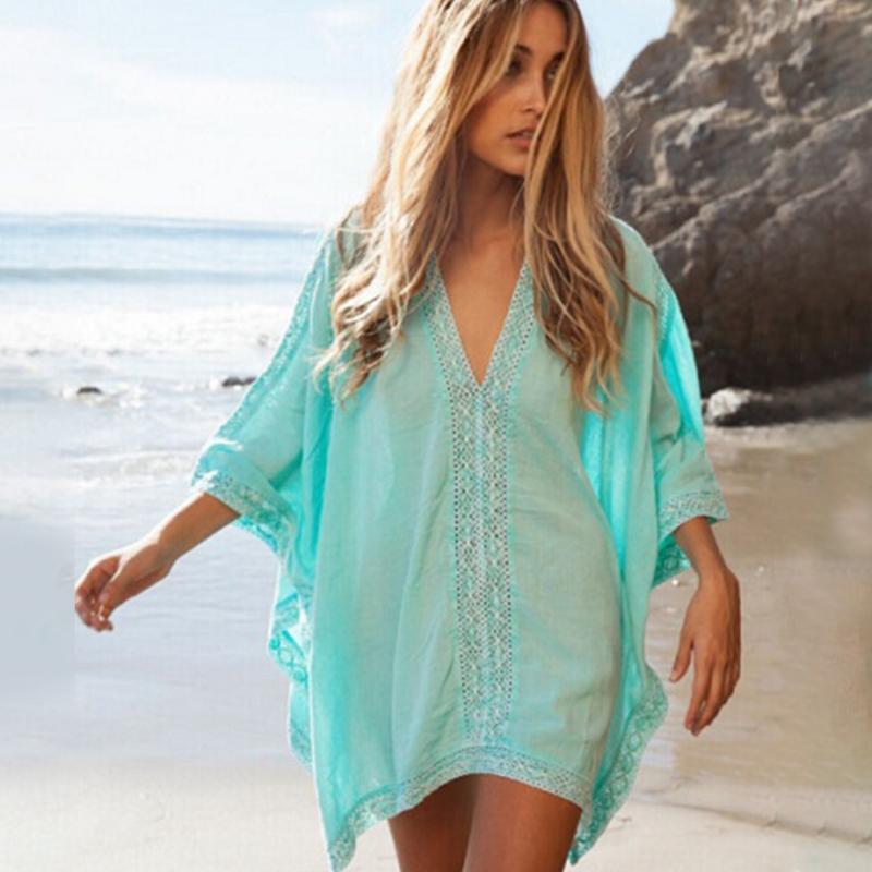 2017 summer women girl beachwear bikini beach wear cover for Beach shirt cover up
