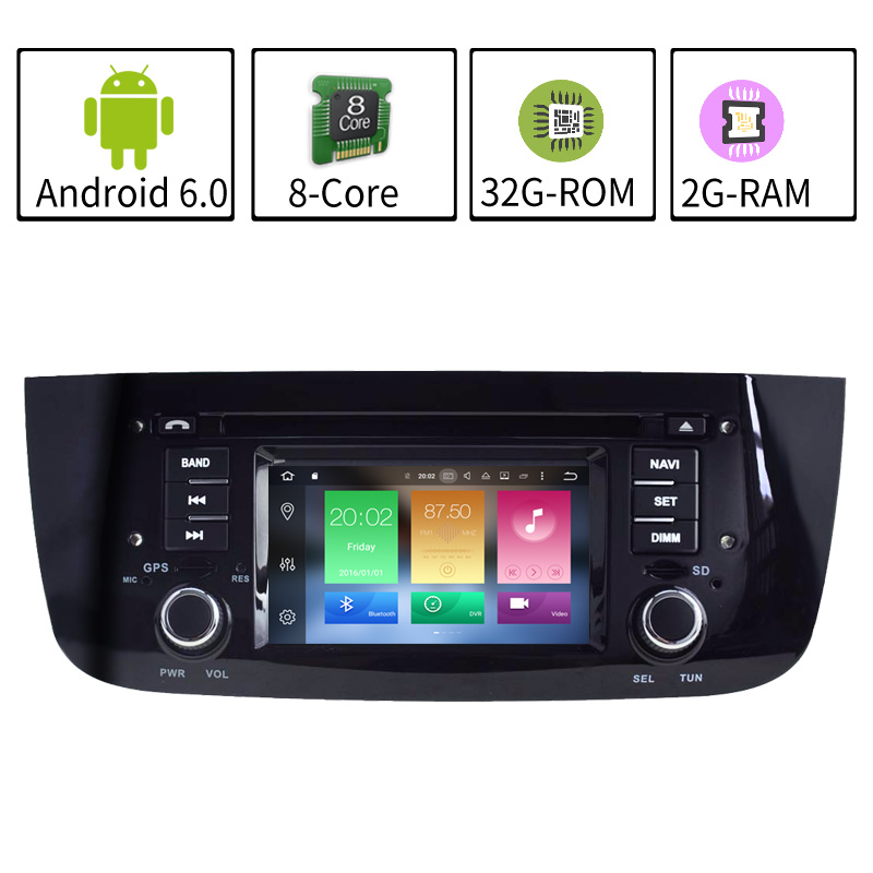 Eight Core Android 6.0 Car Radio For Fiat Abarth Punto EVO Linea 2012-2014 deckless GPS Navigation Multimedia 3G wifi SWC BT USB abarth tales толстовка