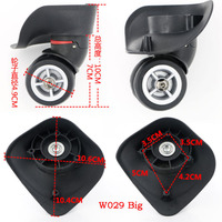 Replacement Luggage Suitcase Wheels Swivel Universal Right Left Wheel For Rubber Trolley Case