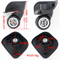 Topsniper Replacement Luggage Suitcase Wheels Swivel Universal Right & Left Wheel For Rubber Trolley Case