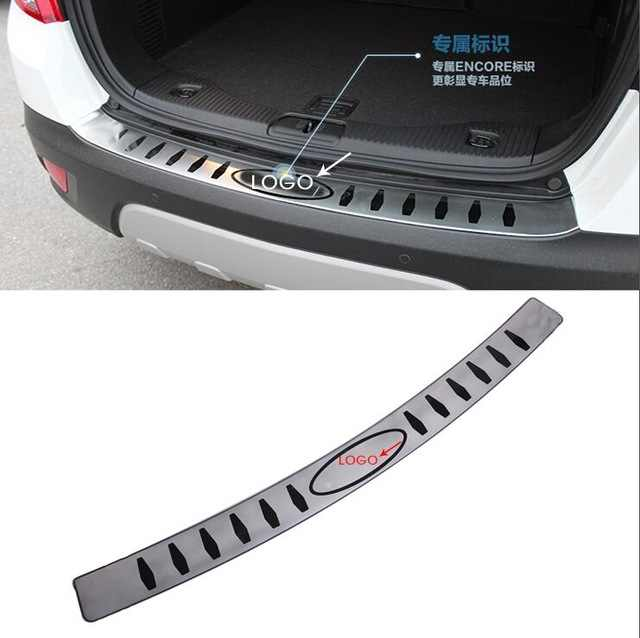 Car outside rear bumper plate bumper sill for buick encore 2013-2015 accessories stainless steel car-styling