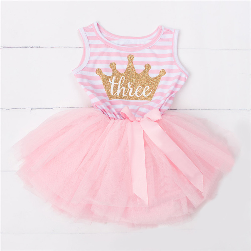 Summer Girl Dress Casual Kids Dresses for Girls 3rd Birthday Party Dress Children Clothing 3 Year Clothes Princess Tulle Costume 2017 summer teenage girl children birthday party veil dress costume for toddler girl kids clothing princess tutu dresses dress