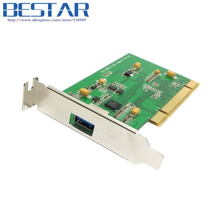 ФОТО Single Port Super speed USB 3.0 PCI 16x 32x Interface Card adapter for PC with Low Profile Bracket