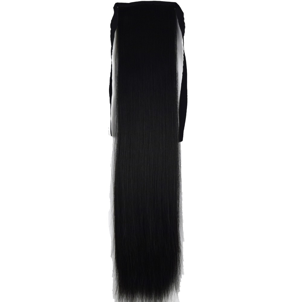 TOPREETY Heat Resistant B5 Synthetic Hair Fiber 22 55cm Straight Ribbon Ponytail Hair Extension