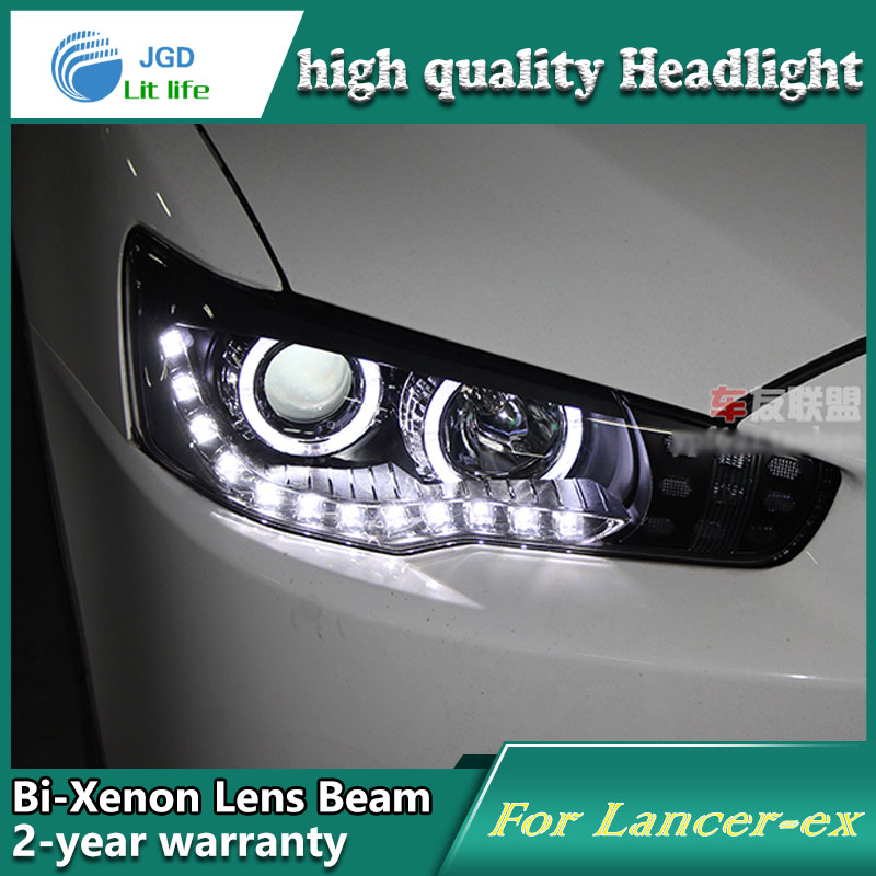 Car Styling Head Lamp case for Mitsubishi Lancer Headlights LED Headlight DRL Lens Double Beam Bi-Xenon HID car Accessories high quality car styling case for mitsubishi lancer 2010 2013 headlights led headlight drl lens double beam hid xenon