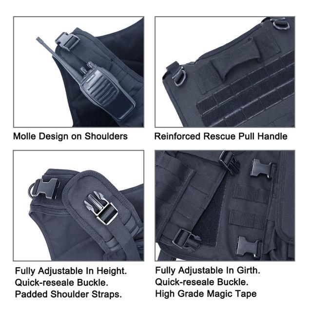MGFLASHFORCE Airsoft Tactical Vest Plate Carrier Swat Fishing Hunting Military Army Armor Police Molle Vest 6