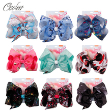 Oaoleer Hair Accessories jojo siwa Bows for Girls Kids Hairgrips 7 Unicorn Grosgrain Ribbon Hairpins JOJO BOWS