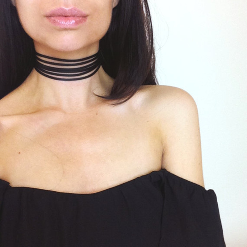 3 color suede choker necklace Leather gothic velvet chokers boho Jewelry 2016 neck Punk Goth jewerly for gift free shipping