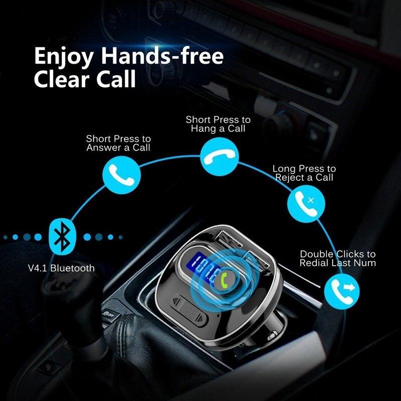 Vehemo Bluetooth приемник автомобильный комплект Автомобильный fm-передатчик музыкальный fm-передатчик Универсальный fm-адаптер Обнаружение напряжения автомобильный