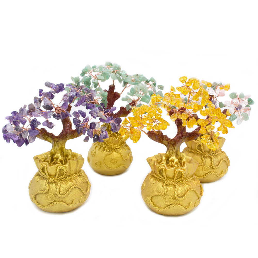 ERMAKOVA 6.7 Polegada Alto Mini Cristal Estilo Bonsai Árvore do Dinheiro Riqueza Sorte para Dropshipping