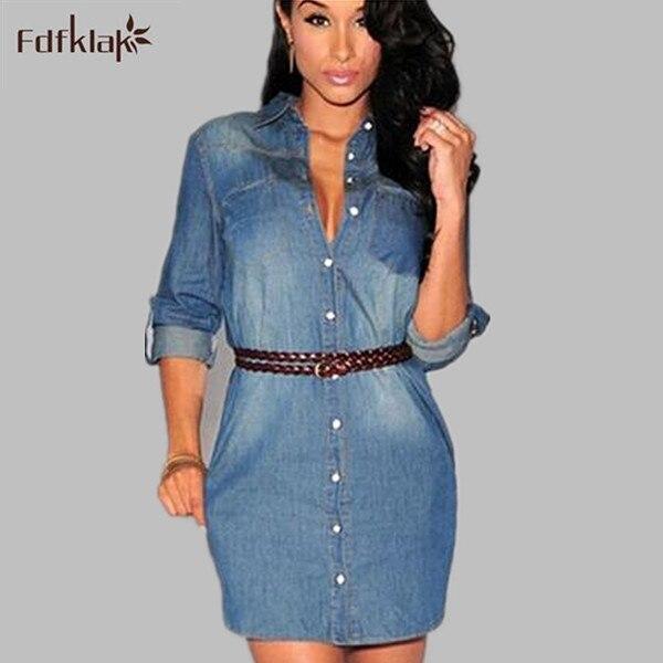 Vestido jeans curto moda
