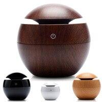 USB Mini Wooden Humidifier Aromatherapy Machine Aromatherapy Machine 130ml Water Tank Humidifier