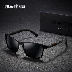 POLARKING Marke Metall Designer Polarisierte Sonnenbrille Für Fahr Männer Oculos Quadrat Sonne Gläser Für Männer Mode Reise Brillen