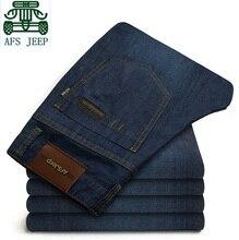 АФН JEEP Горячие Продажа мужские джинсы, 100% хлопок мужчины джинсовые брюки, синий стиль моды жан, новый дизайн бренда брюки