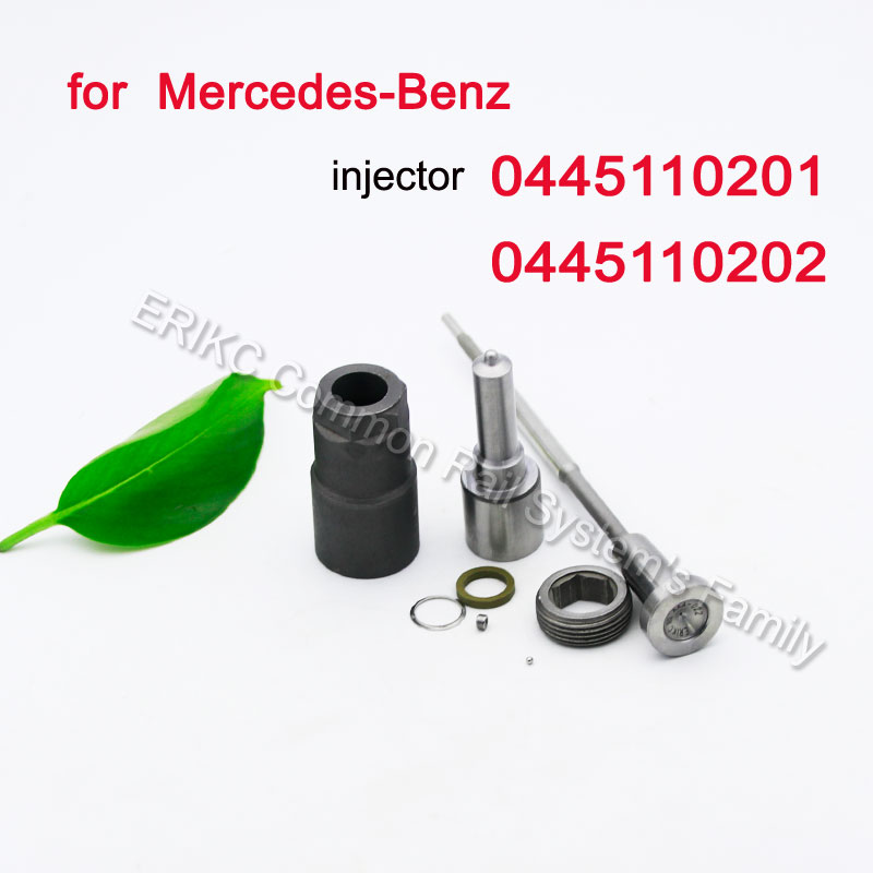 0445110201 Diesel Injector 0445110202 Auto Engine Injector Repair Kits Nozzle DLLA156P1107 Valve F00VC01051 for BZ 6130700887 image