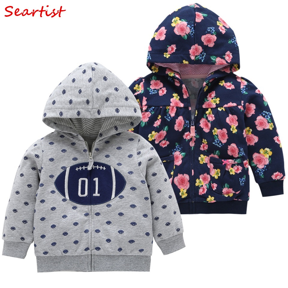 e5d66d58f COSPOT 2019 New Baby Hoodies Spring Floral Sweatshirt for Kids ...