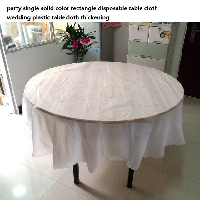 Party Single Solid Color Rectangle Disposable Table Cloth Wedding Plastic Tablecloth Thickening In Diy Decorations From Home Garden On