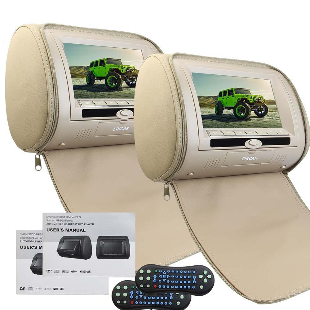 2 Car Headrest cd Pillow Monitors DVD player Region Free LCD HD Digital Screen with Infrared&FM Transmitter support 32 Bit games 9 8 inch lcd screen digital multimedia portable evd dvd with tv avi cd r rw peg 4 game function 270 degree rotation hd player