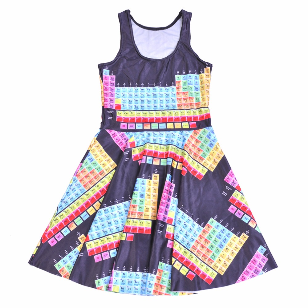 Dress 2016 Fashion Women Dress Digital Print Color Tetris Game