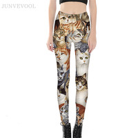 Kittens 3D Leggings Workout Women New Coming Capris Punk Skinny Bodycon Trousers Hot Sale Animal Cat