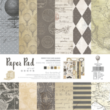 NEW! ENO Greeting Transatlantic Travel 10 x 10 Paper Pad For Scrapbooking And Cardmaking Background Craft Paper