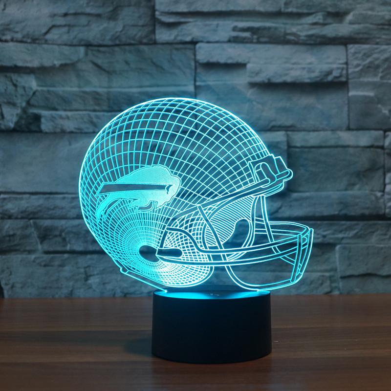 new football Bills 3D Buffalo lights colorful touch LED gift lamp