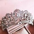2017 Nueva corona de Reina Barroca rhinestone adornos para el cabello joyería Europea princesa boda de la novia tocado de la boda de la joyería