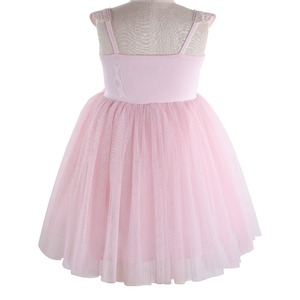 Image 2 - Flofallzique Kid Clothes Pink Round Neck Lace Tulle Tutu Party Wedding Christmas Sweet Cute Girl Dress  1 8Y