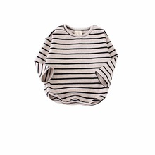 Toddler Baby Long Sleeve T shirt Striped Decor Boys Girls Shirt Top Clothes 0 5 Y