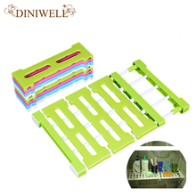 DINIWELL Wardrobe Storage Rack Barrier Free Scalable Hutch Ark Non-trace Storage Shelf Sorting Rack Bathroom Shelving