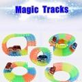 Magic Tracks Car Can Bend Flex Glow in the Dark Gifts for Kids Children