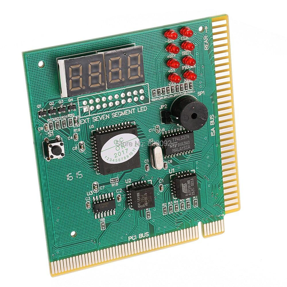 Высокое качество 4-разрядный ЖК-дисплей карты анализатор ПК диагностический материнская плата POST тестер для компьютера PCI ISA
