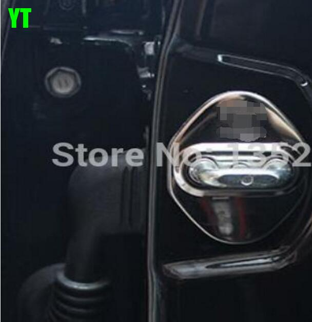 Auto door lock buckle cover, shock absorber pad for Toyota corolla 2014+, camry 2014+,RAV4 2014+,4pcs/lot,stainless steel