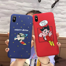 Funda de teléfono patrón para iPhone XR XS MAX dibujos animados Astro Boy personajes suave TPU funda para iPhone 7 6X8 6s Plus XS 8 Plus 7(China)