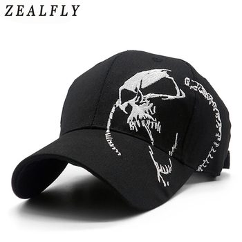 Fashion Spring Summer Cool Swag Skull Baseball Cap Men In Black Unisex 100% Cotton Snapback Hats For Men & Women Cap