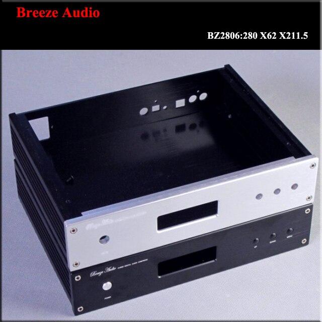 ES9018 boîtier d'amplificateur plein aluminium châssis/DAC décodeur boîtier d'amplificateur