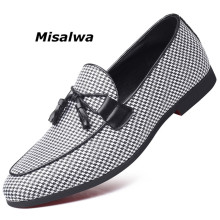 Misalwa Newest Moccasins Dress Loafers For Men Quality Split Leather Plus Size Gentlemen Wedding Male Driving Flats Leisure Shoe