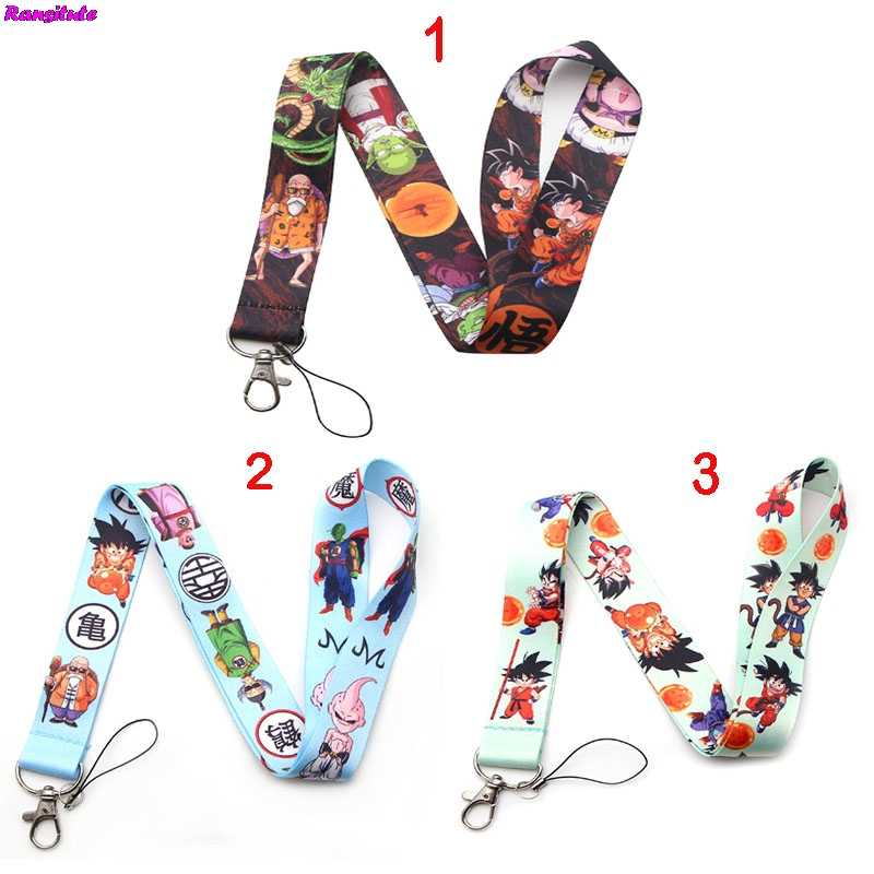 Ransitute Dragon Ball cartoon comic multi-function mobile phone key strap rope lanyard neckband mobile phone decorative ribbon