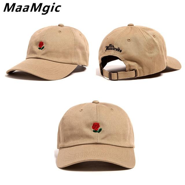 De alta Qualidade Da Marca do Algodão Boné de Beisebol Rosa Vermelha Flor  Snapback Cap Para 26eb9150a55