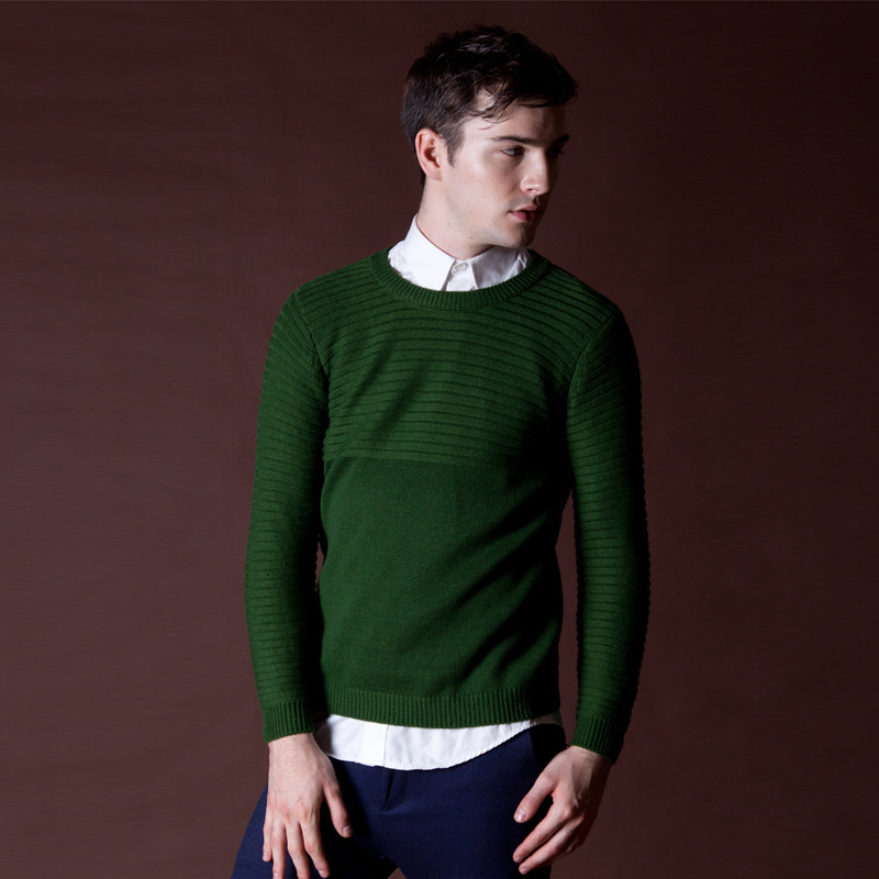 Mens Wool Sweaters 2015 New Arrival Thick Sweater Masculino