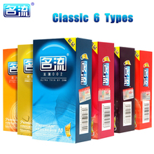 hot deal buy 10 pcs/lot high quality natural latex condoms mingliu penis sleeve condoms safer contraception for men lubrication condoms