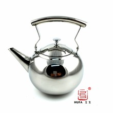 Tea Pot, Newness Polished Stainless Steel Teapot with Lid, Tea Kettle for Home, Teapot with Tea Filter, 33 Ounces(1.0 Liter)