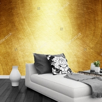 Custom Luxury Gold Wallpaper Gold Polished Metal 3D Photo Mural For Living Room Bedroom KTV Backdrop