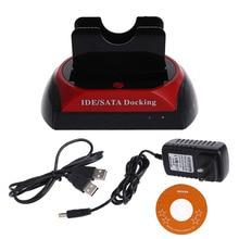 Dual 2.5″/3.5″  480Mb/s IDE SATA HDD Hard Drive Disk Holder Base Dock Docking Station  US Plug