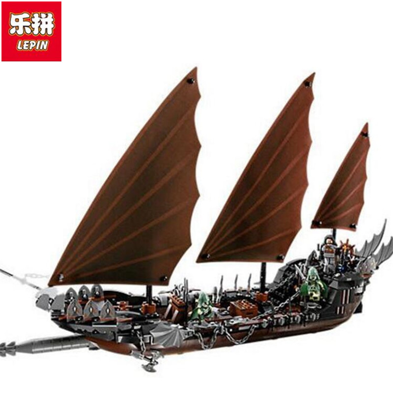 Lepin New 16018 Genuine The lord of rings Series The Ghost Pirate Ship Set Building Block Brick Toys lepin 22001 pirate ship imperial warships model building block briks toys gift 1717pcs compatible legoed 10210