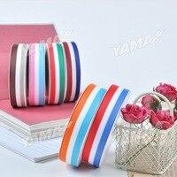 Free Shipping 100 Yards/Roll 25mm Colorful Silk Satin Ribbon Wedding Party Decoration Gift Craft Sewing Ribbon Cloth YAO012