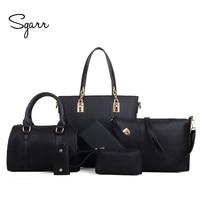 SGARR Luxury Women Handbag Shoulder Bags Fashion Nylon 6 Pieces Sets Composite Bags Large Capacity Tote Bag For Women Clutch