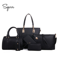 SGARR Luxury Women Handbag Shoulder Bags Fashion Nylon 6 Pieces Sets Composite Bags Large Capacity Tote Bag For Women Clutch